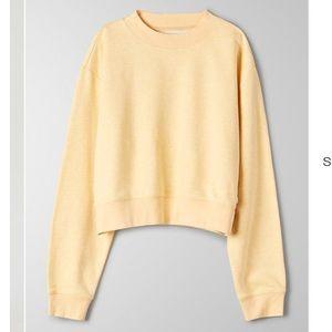Aritzia yellow basic sweatshirt ☀️